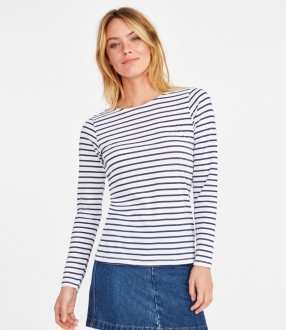 SOL'S Ladies Marine Long Sleeve Stripe T-Shirt
