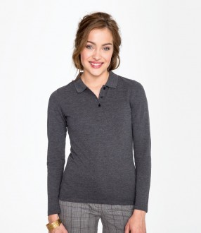 SOL'S Ladies Perfect Long Sleeve Pique Polo Shirt