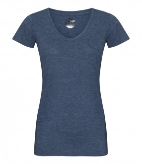 Russell Ladies V Neck HD T-Shirt