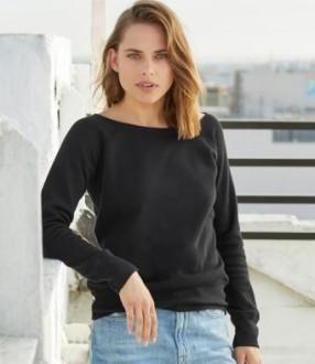 Bella Tri-Blend Sponge Fleece Wide Neck Sweatshirt