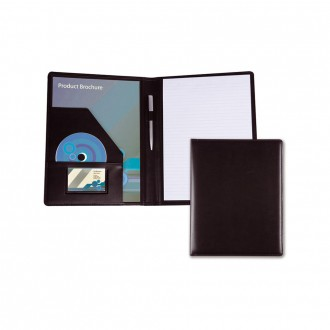 Black Belluno PU A4 Conference Folder