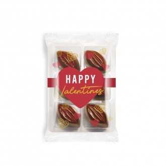 Flow Wrapped Tray - Cocoa Bean Truffles - Valentine's Day