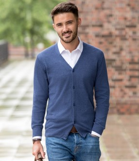Russell Cotton Acrylic V Neck Cardigan