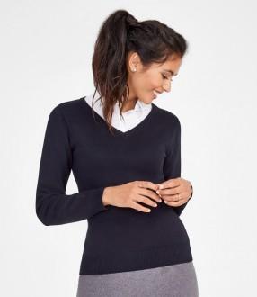 SOL'S Ladies Galaxy Cotton Acrylic V Neck Sweater