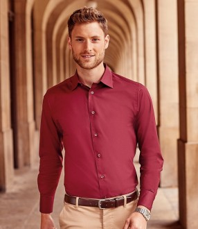 Russell Collection Long Sleeve Easy Care Fitted Shirt