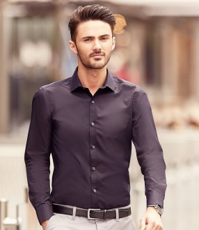 Russell Collection Long Sleeve Ultimate Stretch Shirt
