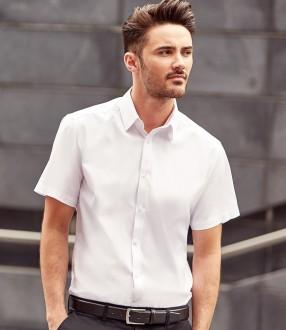 Russell Collection Short Sleeve Herringbone Shirt