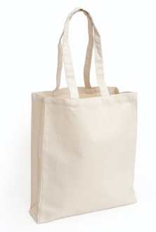 10oz Natural Cotton Canvas Bag with Gusset