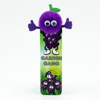 Healthy Eating Bug Bookmarks - Grape