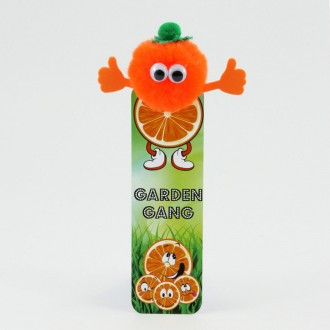Healthy Eating Bug Bookmarks - Orange