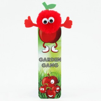 Healthy Eating Bug Bookmarks - Red Apple