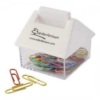 House Shaped Paperclip Dispenser