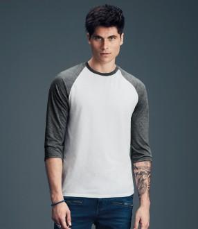 Anvil Tri-Blend 3/4 Sleeve Raglan T-Shirt