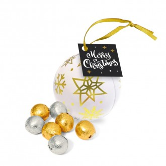 Bauble Tin - Foiled Chocolate Balls