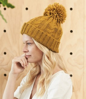 Beechfield Cable Knit Melange Beanie