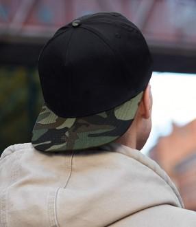 Beechfield Camo Snapback Cap