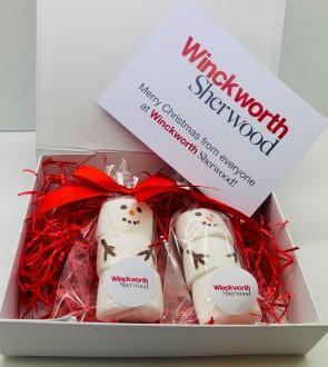 Marshmallow Snowman Gift Box