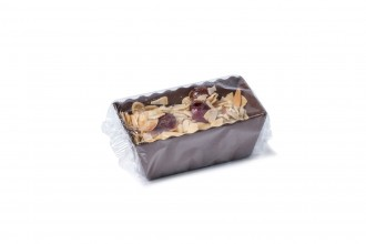 Christmas Brownie Loaf Boat - Cherry & Almond