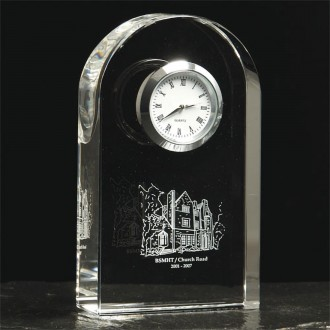 Crystal Arched Clock