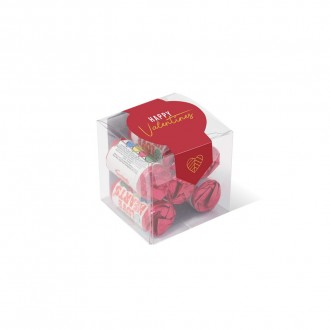Clear Cube - Love Heart Sweets - Valentine's Day