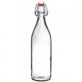 Round Reusable Flip Top Water Bottle