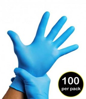 Result Synthetic Vinyl Disposable Gloves (Pack of 100)