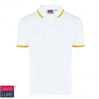 Eco Stripe Trim Pique Polo Shirt