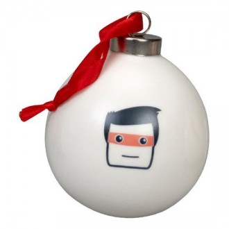 Bone China Christmas Bauble