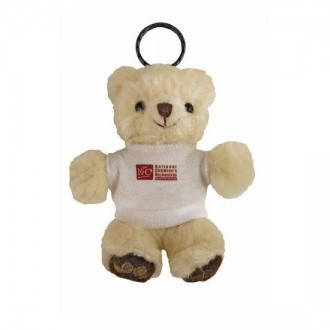 Chester Bear Key Ring With White T-Shirt