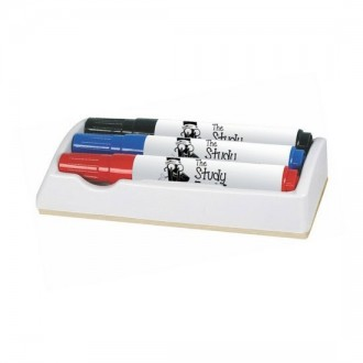 Board Eraser With 3 Whiteboard Markers