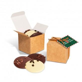 Eco Kraft Cube - Chocolate Discs