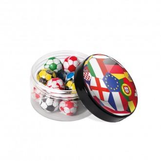 Screw Top Jar - Chocolate Footballs