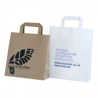 SOS Flat Tape Paper Carrier Bag