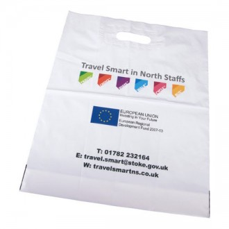 Digital Print Patch Handle Polythene Carrier Bag