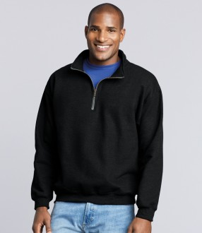 Gildan Heavy Blend™ Vintage Zip Neck Sweatshirt