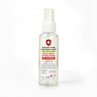 Hand Sanitiser Liquid 100ml Spray Bottle