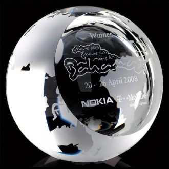 Crystal Globe with Sloping Face