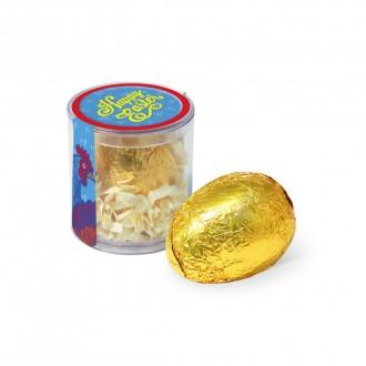Clear Pot - Gold Foiled Egg