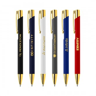 The Crosby Gold Soft-Touch Pen