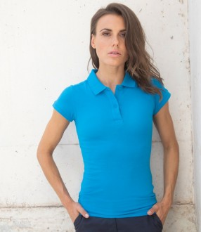 Henbury Ladies Modern Fit Cotton Pique Polo Shirt