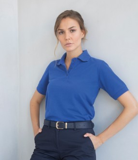 Henbury Ladies Poly/Cotton Pique Polo Shirt