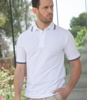 Henbury Tipped Poly/Cotton Pique Polo Shirt