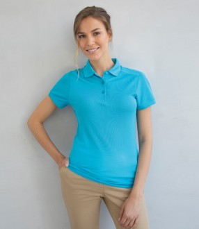 Henbury Ladies Stretch Microfine Pique Polo Shirt