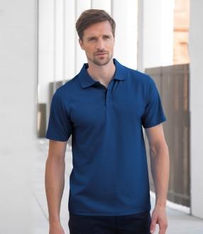Henbury Cooltouch™ Textured Stripe Pique Polo Shirt