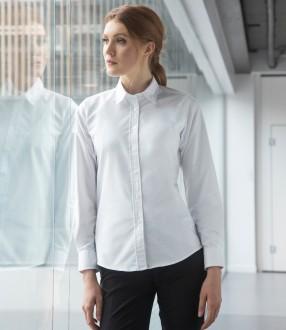 Henbury Ladies Long Sleeve Classic Oxford Shirt