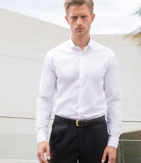 Henbury Long Sleeve Stretch Poplin Shirt