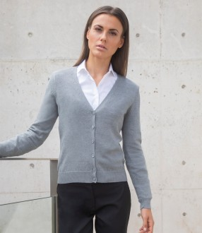 Henbury Ladies Lightweight V Neck Cardigan