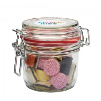 125ml Glass Jar with Choice of Sweets