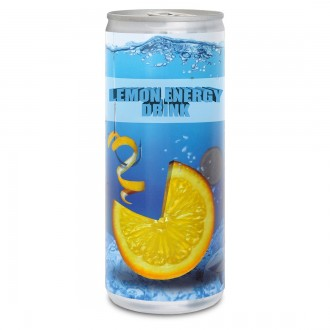 Lemon Energy Drink Can