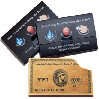 Promotional Chocolate Bar Business Cards with Sleeve